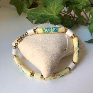 """Cloisonné Gold-tone 8"""" Bracelet"""